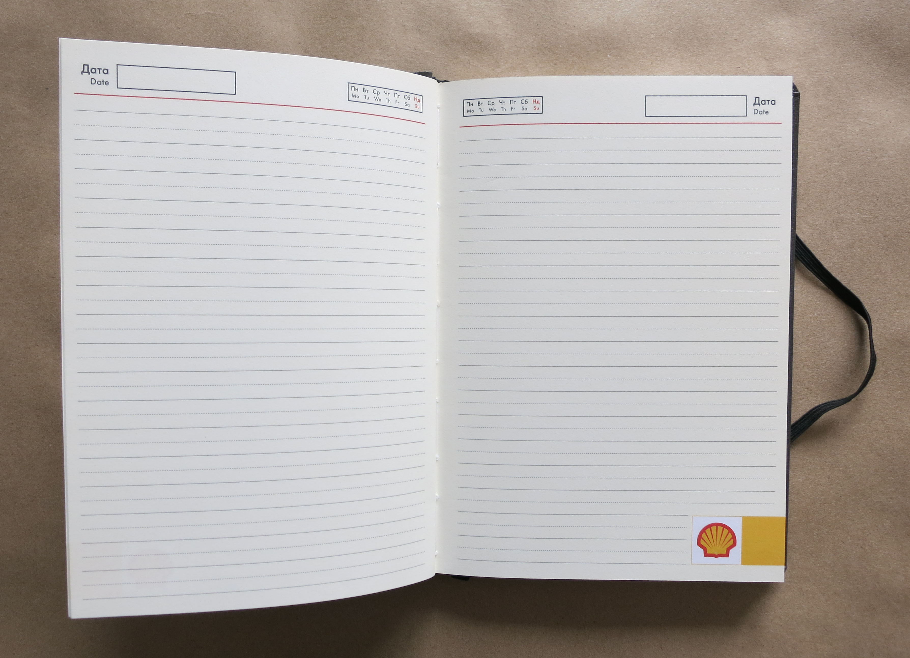 Фирменный ежедневник для комапнии Shell - фото 1