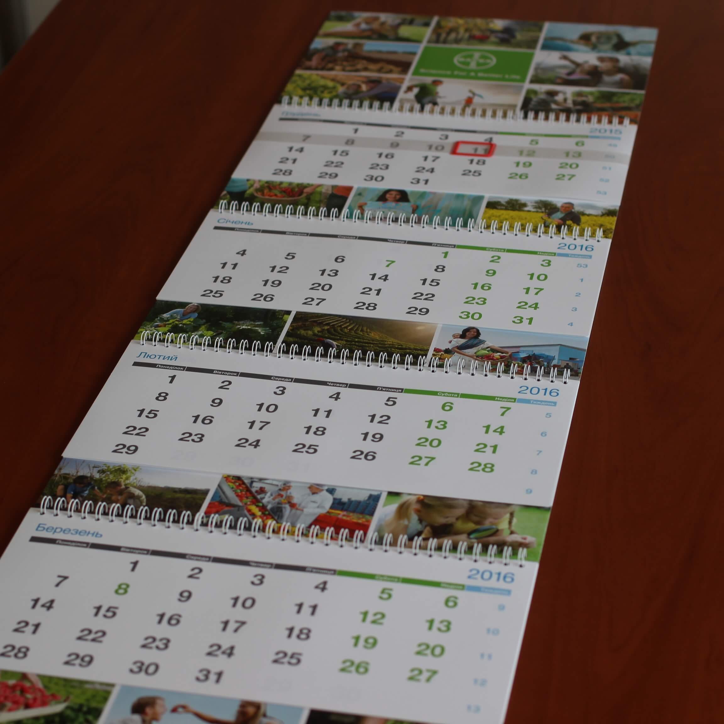Календарь Bayer 2016