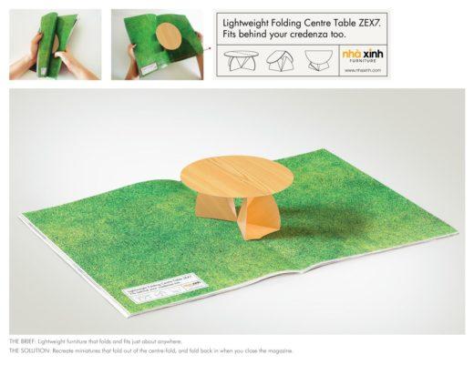 7. Раскладной столик от Nha Xinh Furniture