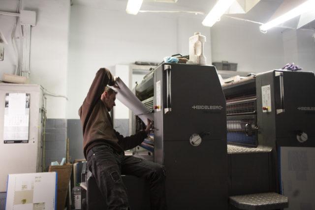 Печать в типографии Huss