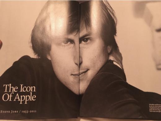 Разворот журнала со Стивом Джобсом