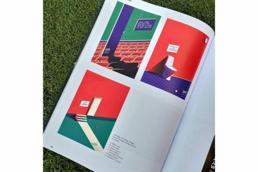 Постеры для Design Village в журнале Lürzer's Archive. Фотография Лидии Бойчук, 2018