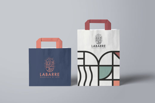 Дизайн полиграфии для книжного-кофейни Labarre
