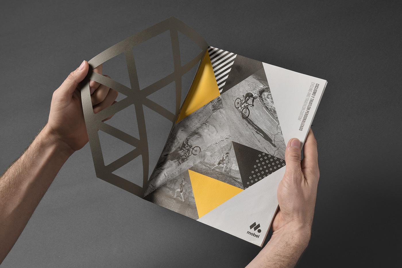Геометрия и яркие акценты в каталоге для Mobel Sport