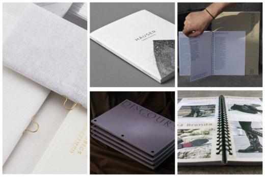 Популярные типы креплений для печати каталогов